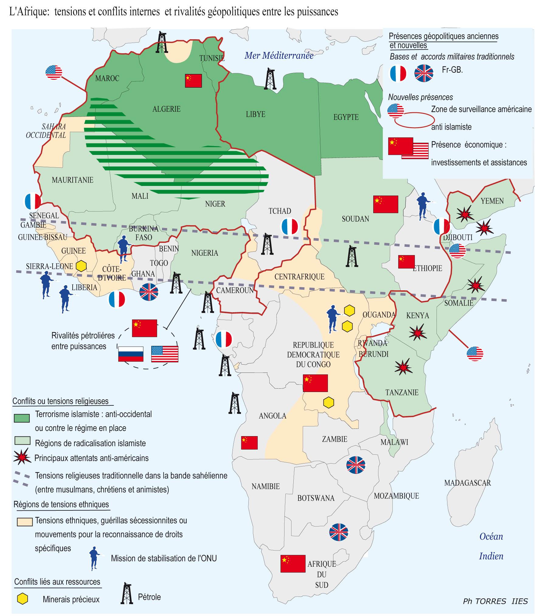 Carte Afrique Ressources Naturelles.Afrique Jmgoglin