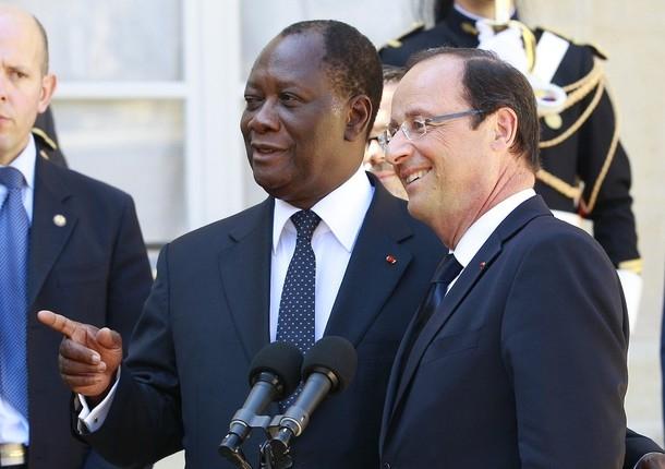 Alassane Ouattara et Francois Hollande