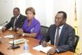 Affi N'Guessan (FPI), Boni Claverie (URD) et Ouattara Gnonzie (RPP)