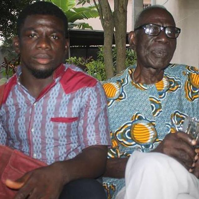 Le très jeune écrivain Ahossan Jean-Yves Tanoh et le Baobab de la Littérature ivoirienne, le Patriarche Bernard Dadié