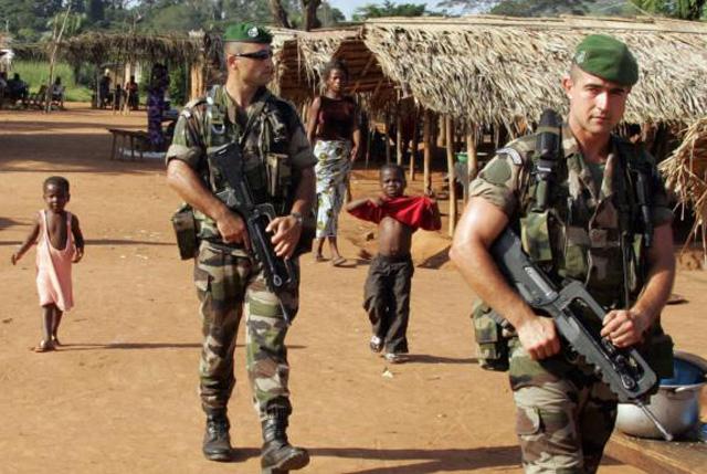 Présence militaire française sur les théâtres d'opérations en Afrique