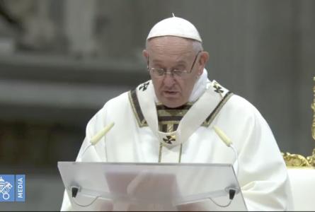 e Pape Francois (Capture d'écran-2018)